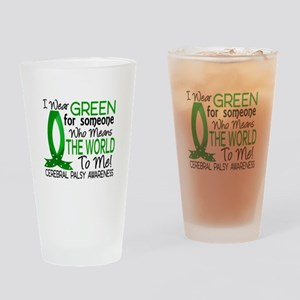 Means World to Me 1 Cerebral Palsy Drinking Glass