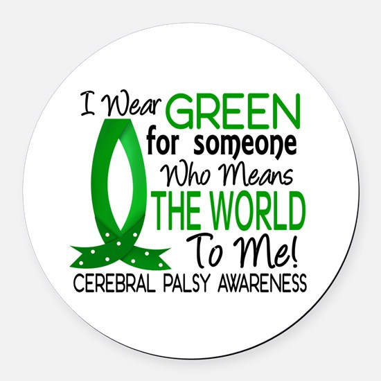 Means World to Me 1 Cerebral Pals Round Car Magnet