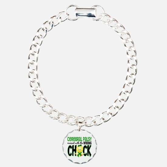 Messed With Wrong Chick 1 Cerebral Palsy Bracelet