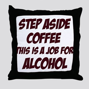Funny alcohol designs Throw Pillow