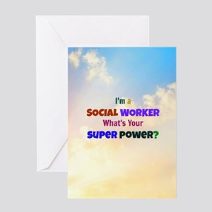 Im A Social Worker Whats Your Sup Greeting Card