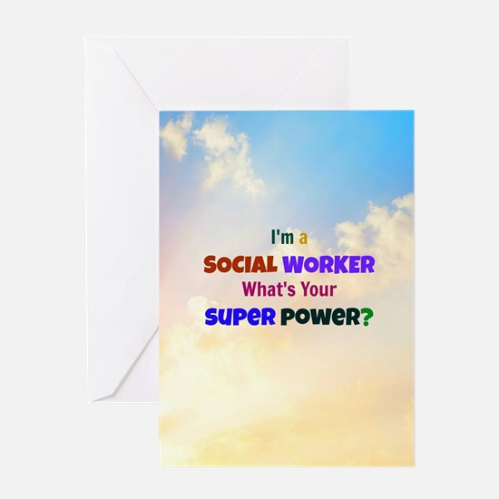 I'm a Social Worker. What's Your Sup Greeting Card