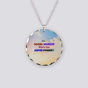 I'm a Social Worker. What's  Necklace Circle Charm