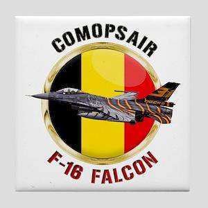 COMOPSAIR F-16 Falcon Tile Coaster