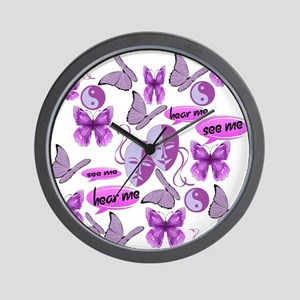 Invisible Illness Collage Wall Clock