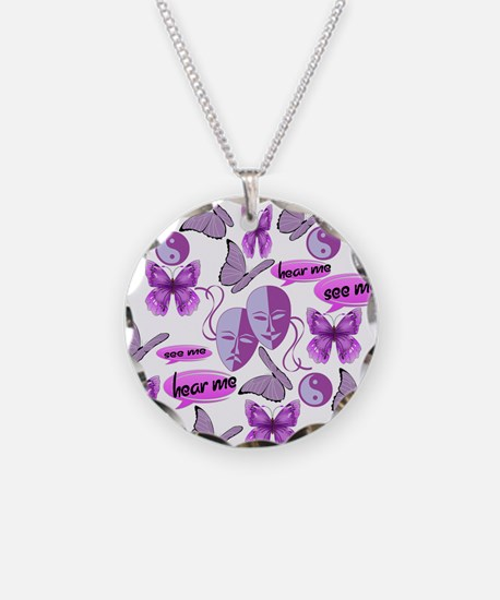 Invisible Illness Collage Necklace