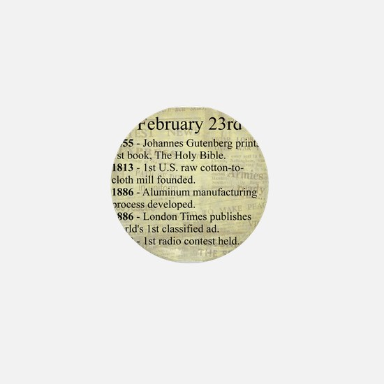 February 23rd Mini Button