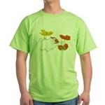 Checkers in Poppies Green T-Shirt