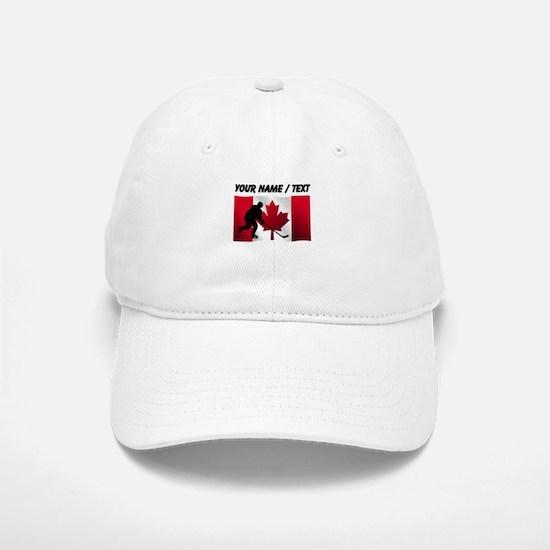 Custom Hockey Canadian Flag Baseball Baseball Cap