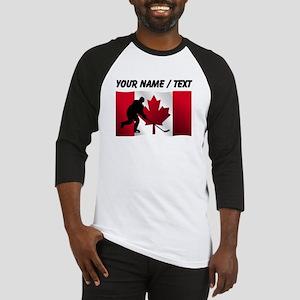 Custom Hockey Canadian Flag Baseball Jersey