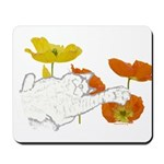 Checkers in Poppies Mousepad
