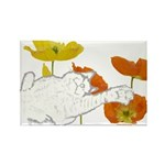 Checkers in Poppies Rectangle Magnet