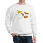 Checkers in Poppies Sweatshirt