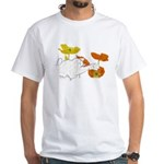 Checkers in Poppies White T-Shirt