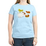 Checkers in Poppies Women's Light T-Shirt