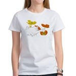 Checkers in Poppies Women's T-Shirt