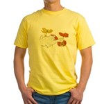Checkers in Poppies Yellow T-Shirt
