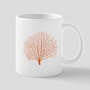 red sea fan coral silhouette Mugs