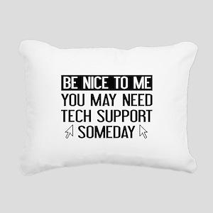 Be Nice To Me Rectangular Canvas Pillow