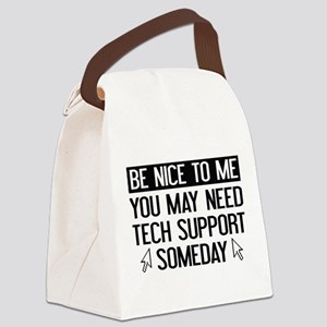 Be Nice To Me Canvas Lunch Bag