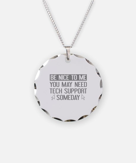 Be Nice To Me Necklace Circle Charm