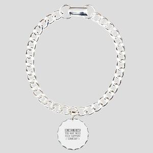 Be Nice To Me Charm Bracelet, One Charm