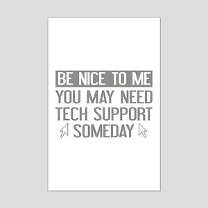 Be Nice To Me Mini Poster Print