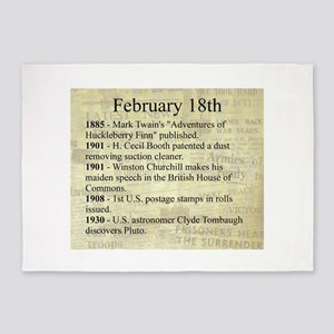 February 18th 5'x7'Area Rug