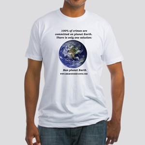 Ban Planet Earth Fitted T-Shirt