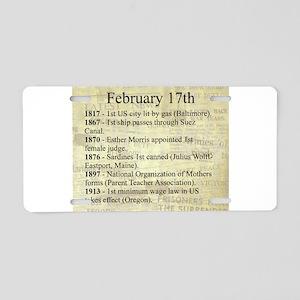 February 17th Aluminum License Plate