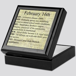 February 16th Keepsake Box