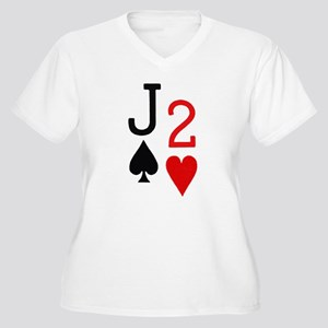 Jack of Spades - 2 of Hearts Poker Women's Plus Si