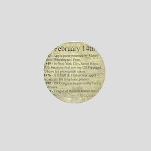 February 14th Mini Button