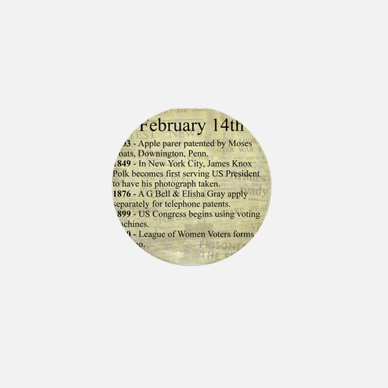 February 14th Mini Button