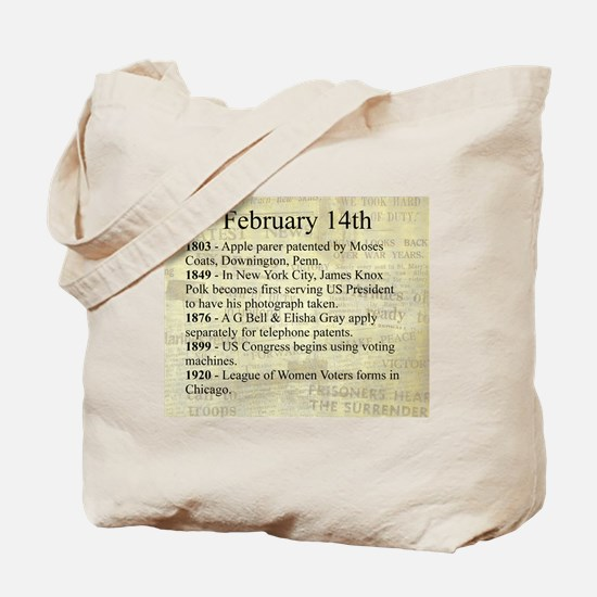 February 14th Tote Bag