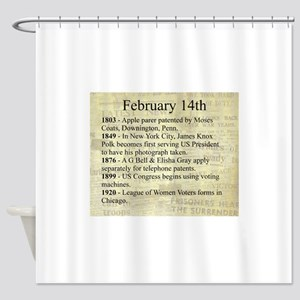February 14th Shower Curtain