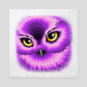 Pink Owl Eyes Queen Duvet