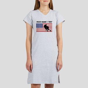 Custom Rugby Tackle American Flag Women's Nightshi