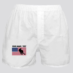 Custom Rugby Tackle American Flag Boxer Shorts