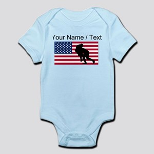 Custom Rugby Tackle American Flag Body Suit
