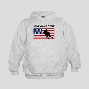 Custom Rugby Tackle American Flag Hoody
