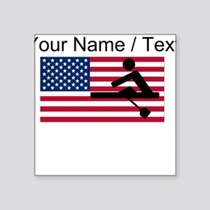 Custom Rowing American Flag Sticker