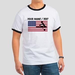 Custom Rowing American Flag T-Shirt