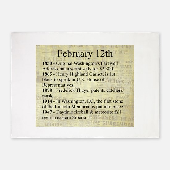 February 12th 5'x7'Area Rug