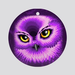 Pink Owl Eyes Ornament (Round)