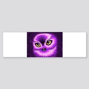 Pink Owl Eyes Bumper Sticker