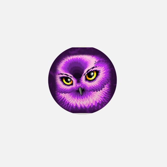 Pink Owl Eyes Mini Button