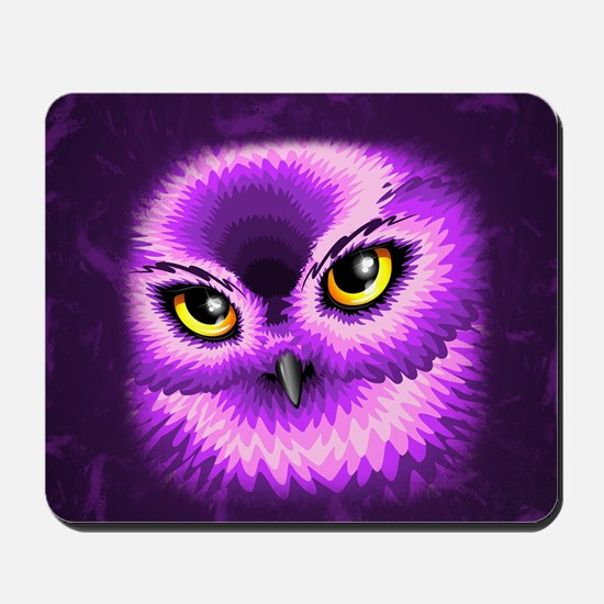 Pink Owl Eyes Mousepad