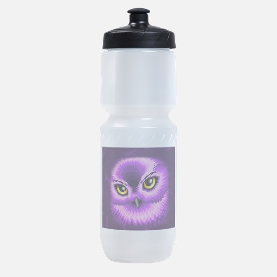 Pink Owl Eyes Sports Bottle