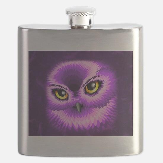 Pink Owl Eyes Flask